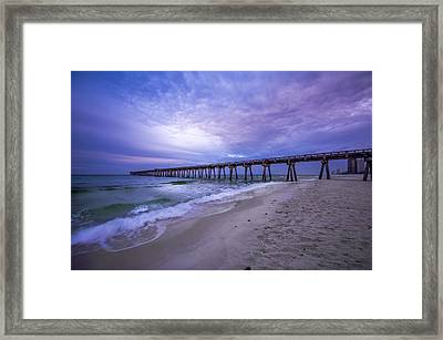 Panama City Beach Pier In The Morning Framed Print by David Morefield