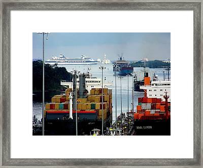 Panama Express Framed Print by Karen Wiles