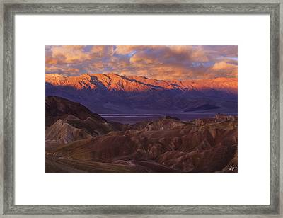 Panamint Sunrise Framed Print by Peter Coskun