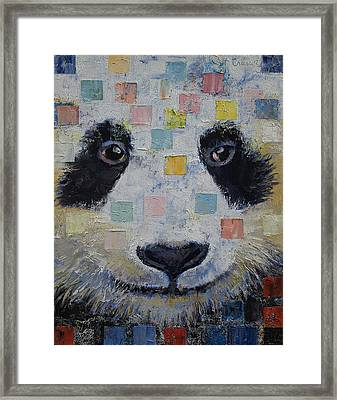 Panda Checkers Framed Print by Michael Creese