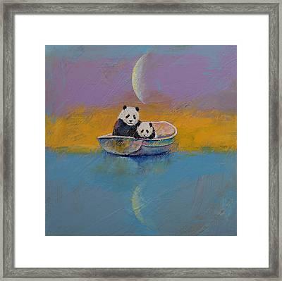 Panda Lake Framed Print by Michael Creese