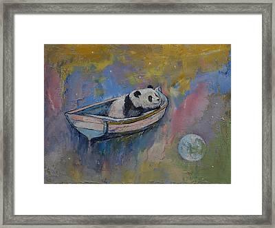 Panda Moon Framed Print by Michael Creese