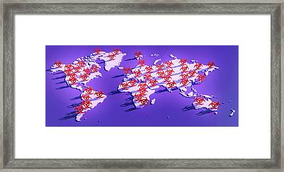 Pandemic Disease Framed Print by Tim Vernon