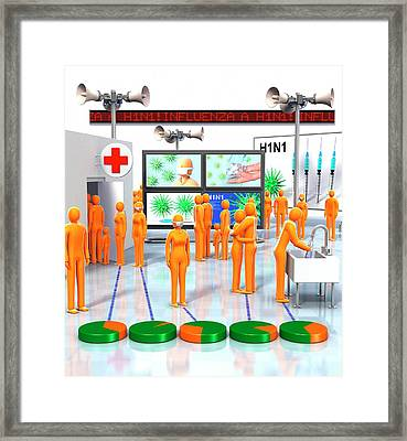 Pandemic Response Framed Print by Animated Healthcare Ltd