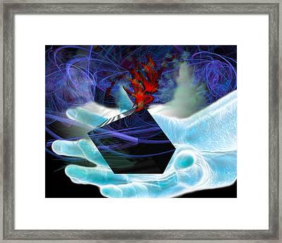 Pandora's Box Framed Print by Camille Lopez