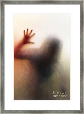 Panic Silhouette Framed Print by Carlos Caetano