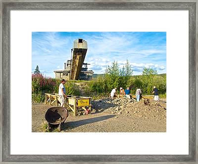 Panning For Gold In Chicken-ak- Framed Print by Ruth Hager