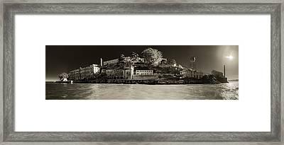 Panorama Alcatraz Up Close Framed Print by Scott Campbell