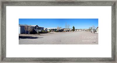 Panorama Cedar Cove Rv Park Street 4 Framed Print by Roena King