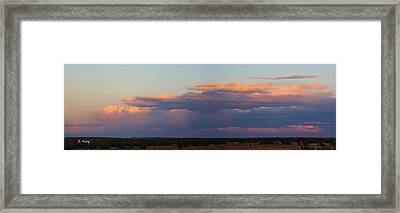 Panorama Colors In The Clouds Framed Print by Roena King