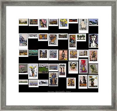 Panorama Digital Graphics Framed Print by Pemaro