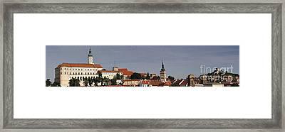 panorama - Mikulov castle Framed Print by Michal Boubin