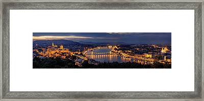Panorama Of Budapest Framed Print by Thomas D M?rkeberg