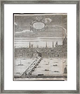 Panorama Of London Framed Print by British Library