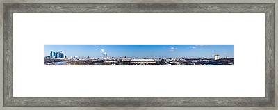 Panorama Of Moscow From Sparrow Hills - Featured 3 Framed Print by Alexander Senin