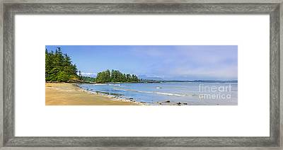 Panorama Of Pacific Coast On Vancouver Island Framed Print by Elena Elisseeva