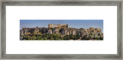 Panorama Of The Acropolis In Athens Framed Print by David Smith