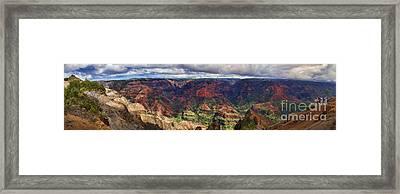 Panorama Of Waimea Canyon Hawaii Framed Print by David Smith