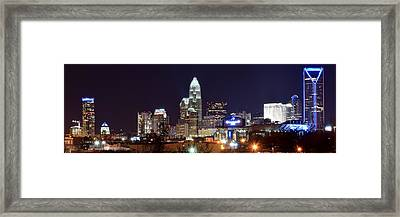Panoramic Charlotte Night Framed Print by Frozen in Time Fine Art Photography