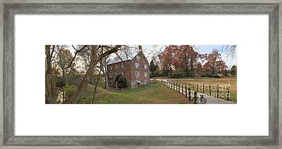 Panoramic Kerr Grist Mill Landscape Framed Print by Adam Jewell