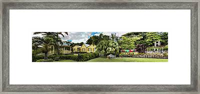 Panoramic Of Batik Studio In St  Kitts  Framed Print by David Smith
