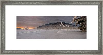 Panoramic Of Shawnee Peak And Moose Pond Framed Print by Darylann Leonard Photography