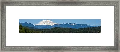 Panoramic Rainier Rt.25 Framed Print by Tikvah's Hope