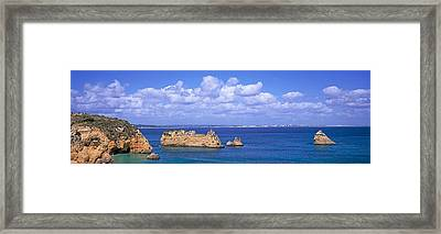 Panoramic View Of A Coastline, Southern Framed Print by Panoramic Images