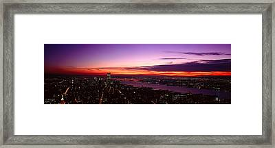 Panoramic View Of Empire State Framed Print by Panoramic Images
