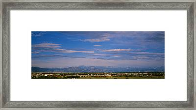 Panoramic View Of Rocky Mountains Framed Print by Panoramic Images