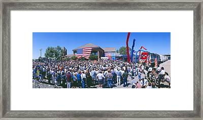 Panoramic View Of Spectators At Oxnard Framed Print by Panoramic Images