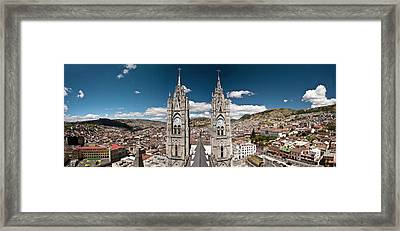 Panoramic View Of The Bell Towers Framed Print by Brent Bergherm