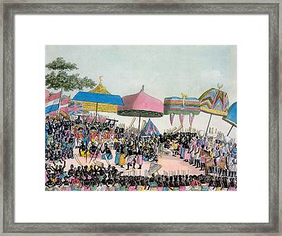Panoramic View Of The Yam Custom Framed Print by Italian School