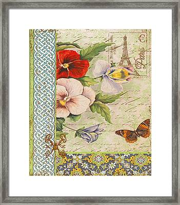 Pansy Garden-a Framed Print by Jean Plout