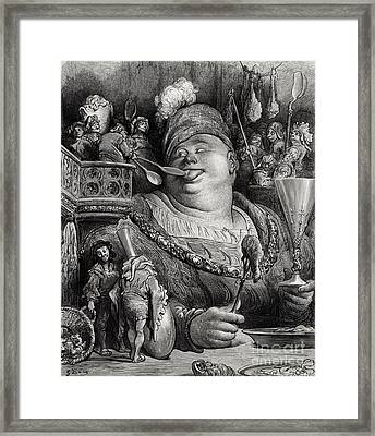 Pantagruels Meal Framed Print by Paul Jonnard Pacel
