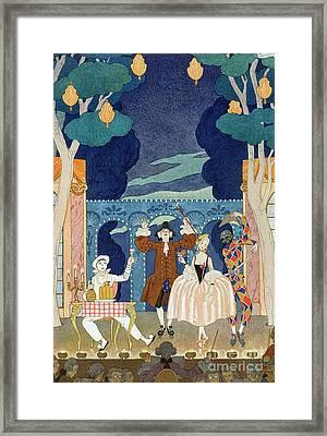 Pantomime Stage Framed Print by Georges Barbier