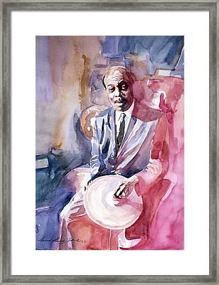 Papa Jo Jones Jazz Drummer Framed Print by David Lloyd Glover