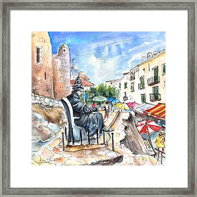 Papa Luna In Peniscola Framed Print by Miki De Goodaboom
