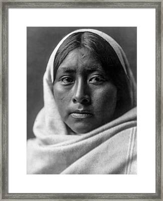 Papago Indian Woman Circa 1907 Framed Print by Aged Pixel
