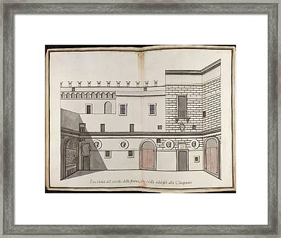 Papal Palace In Rome Framed Print by British Library