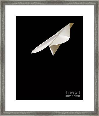Paper Airplane Framed Print by Edward Fielding