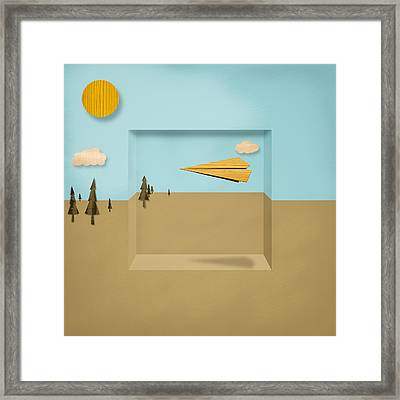 Paper Airplanes Of Wood 12 Framed Print by YoPedro