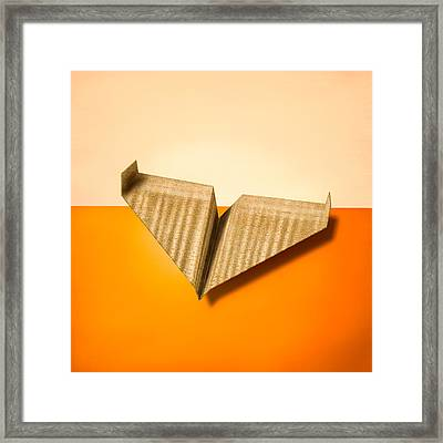 Paper Airplanes Of Wood 8 Framed Print by Yo Pedro