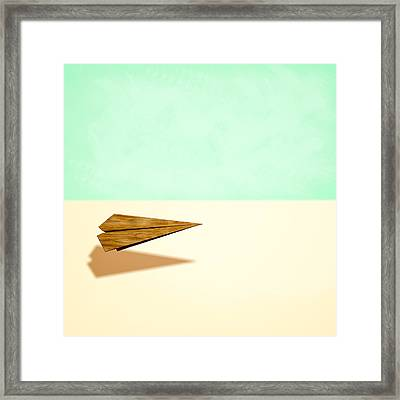 Paper Airplanes Of Wood 9 Framed Print by YoPedro