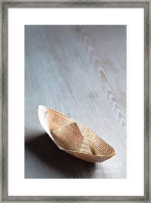 Paper Boat Framed Print by Jan Bickerton