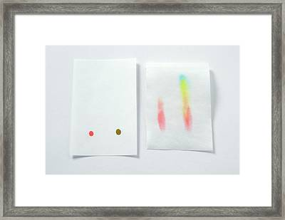 Paper Chromatography Test Sheet Framed Print by Trevor Clifford Photography