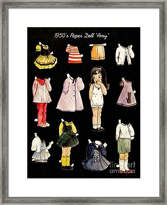 Paper Doll Amy Framed Print by Marilyn Smith