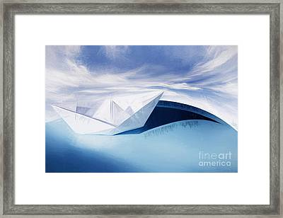 Paper Knots And Cardboard Seas Framed Print by Jorgo Photography - Wall Art Gallery