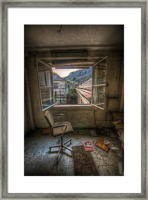 Paper Mill Reflection  Framed Print by Nathan Wright