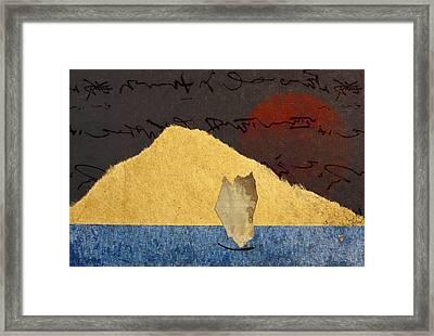 Paper Sail Framed Print by Carol Leigh